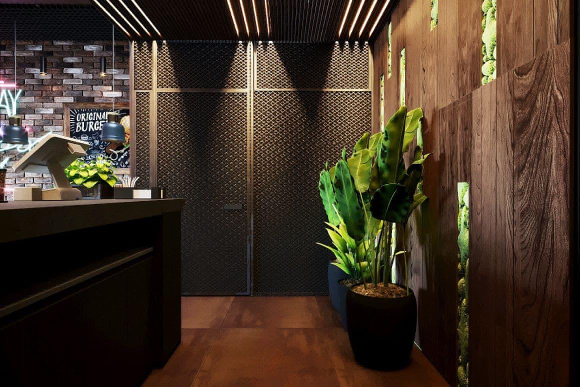 Дизайн холла кафе