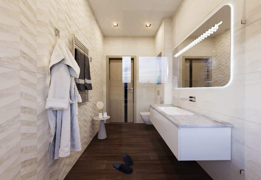 Интерьер туалета в скандинавском стиле