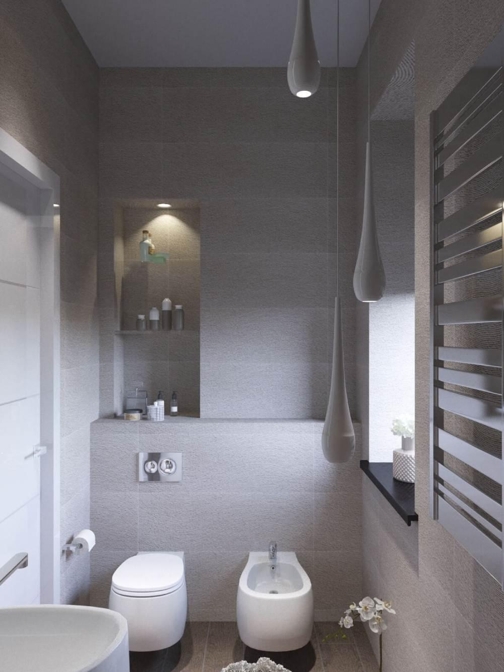 Туалет в стиле хай-тек