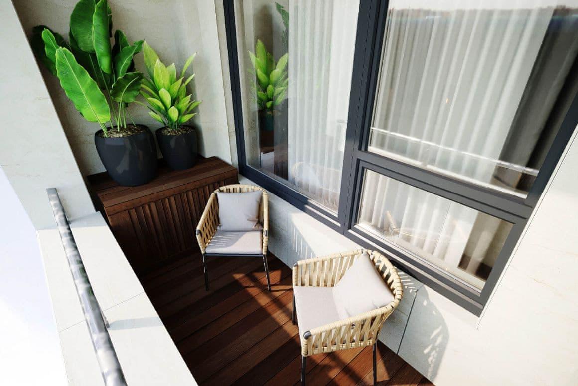 Дизайн интерьера балкона для квартиры-студии