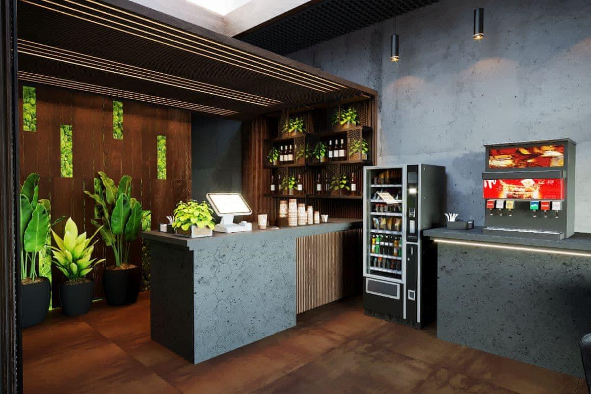 Дизайн барной стойки в кафе