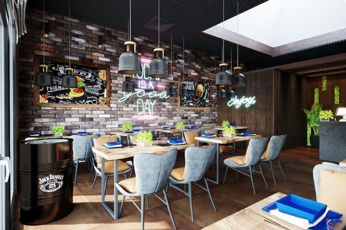 Дизайн зала ресторана