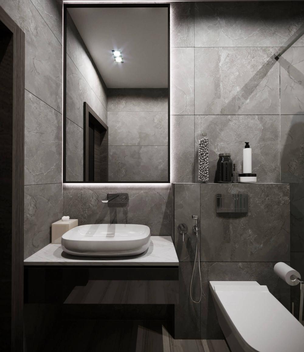 Дизайн проект туалетной комнаты