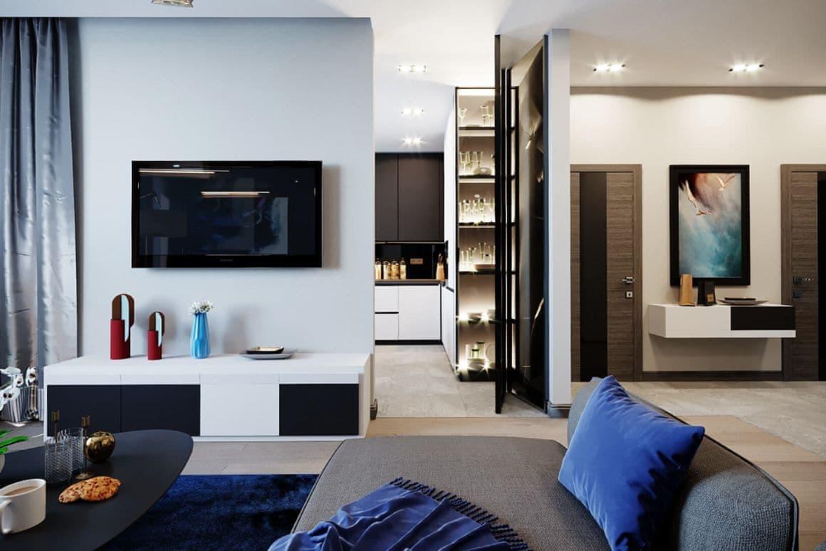 Перегородки в дизайне интерьера квартиры-студии