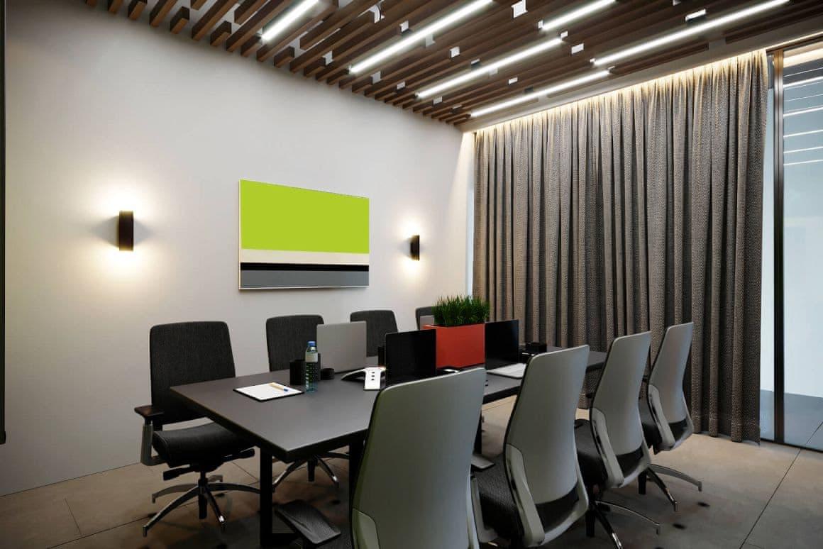 Дизайн переговорной для офисных помещений